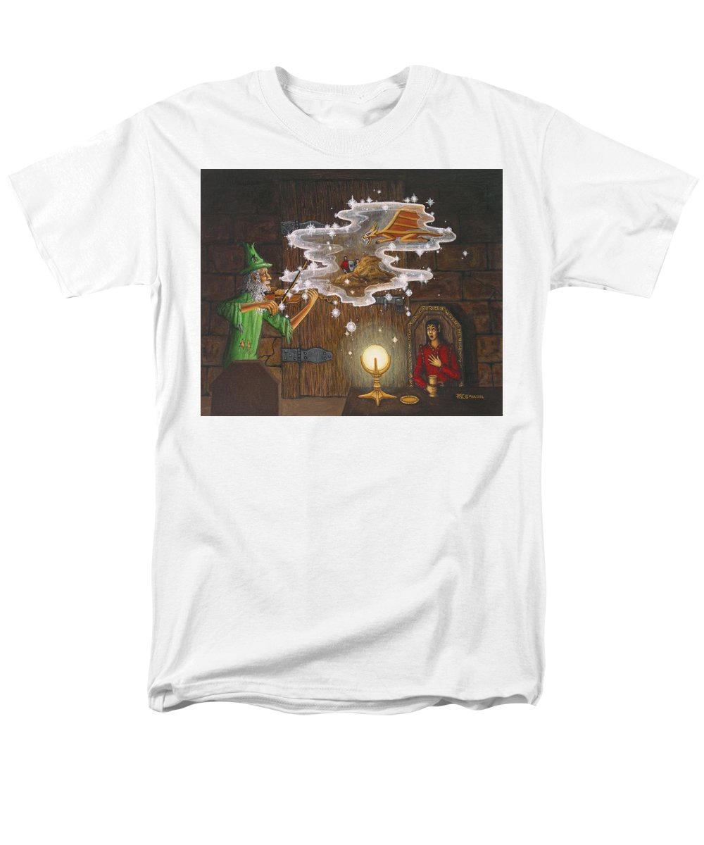 Fantasy Men's T-Shirt (Regular Fit) featuring the painting Magic Violin by Roz Eve