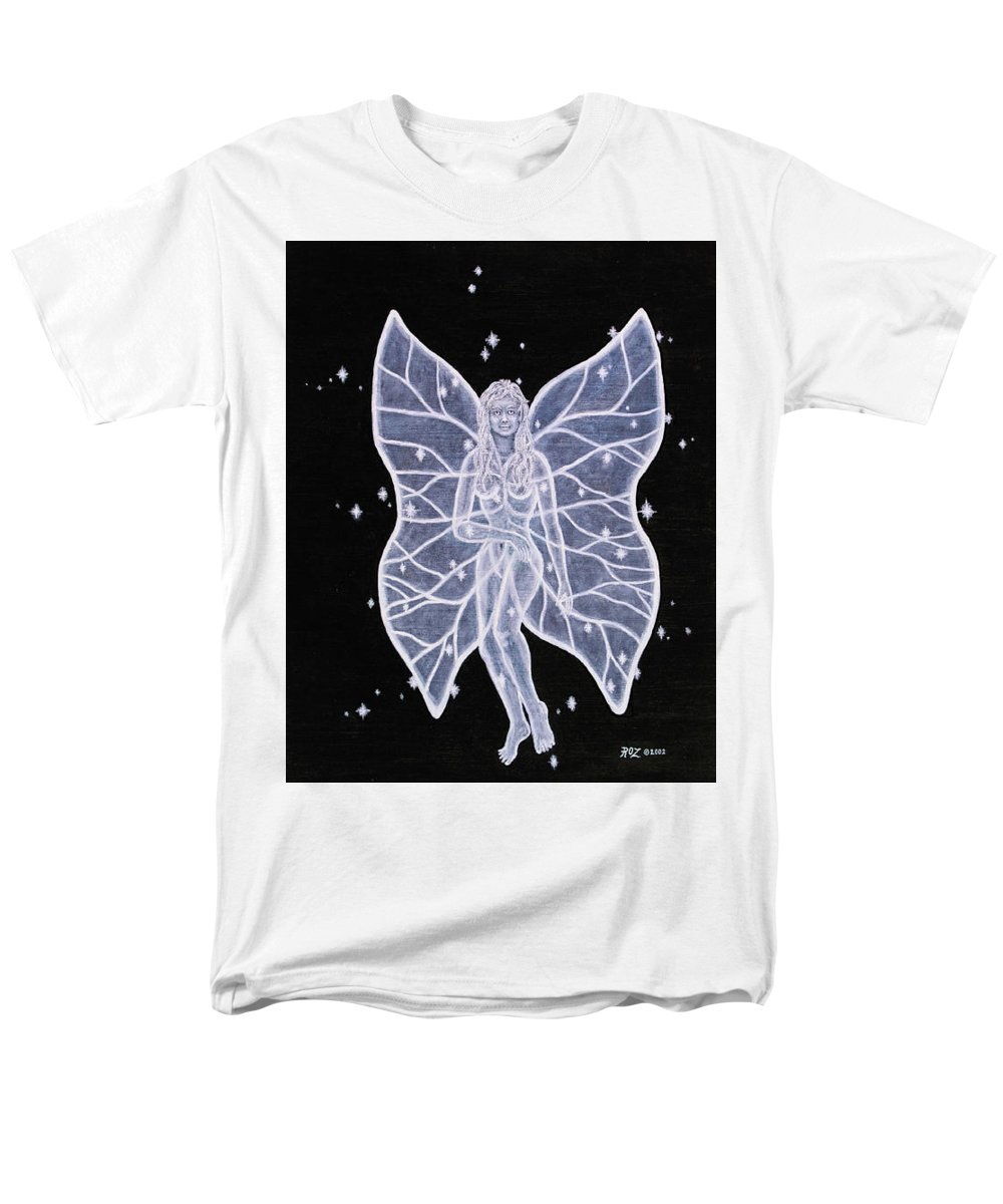 Fairy Men's T-Shirt (Regular Fit) featuring the painting Moon Fairy by Roz Eve