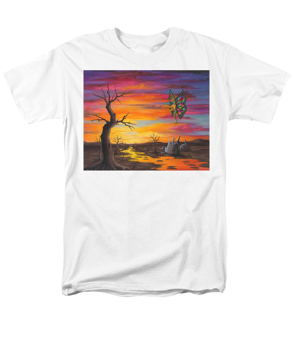 Fantasy Men's T-Shirt (Regular Fit) featuring the painting Planet Px7 by Roz Eve