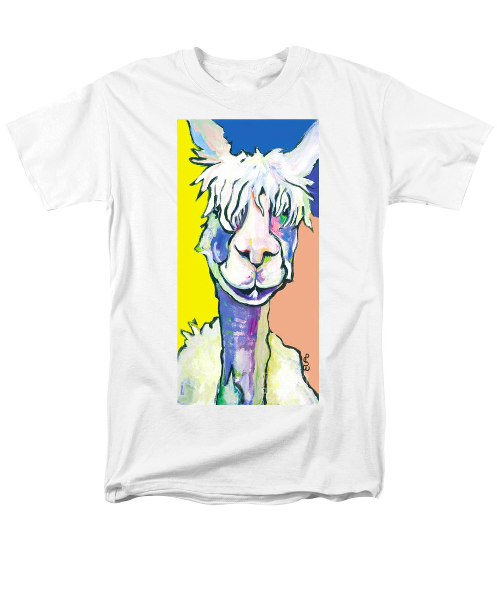 Mountain Animal Men's T-Shirt (Regular Fit) featuring the painting Veronica by Pat Saunders-White