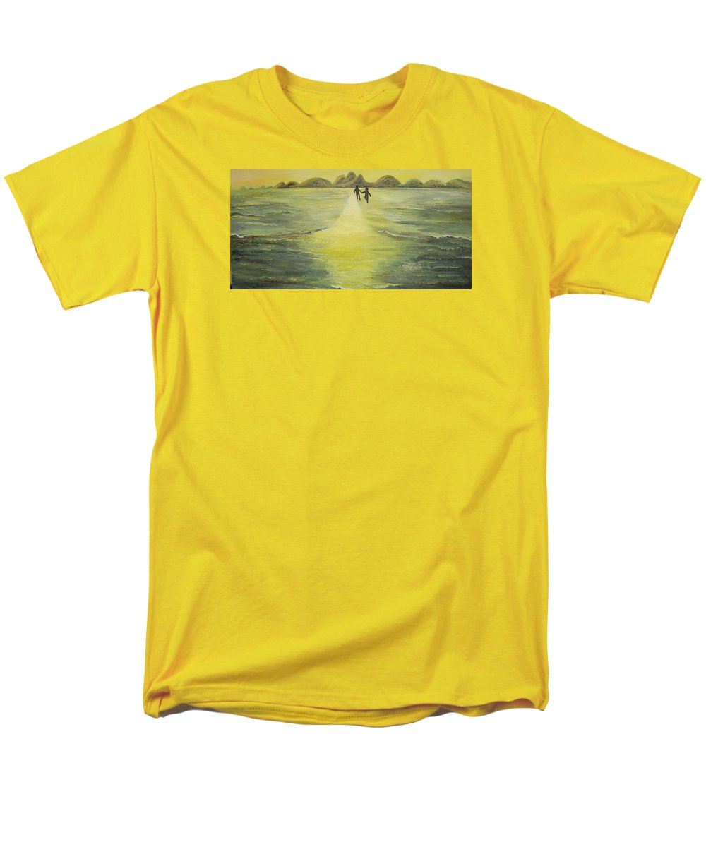 Soul Men's T-Shirt (Regular Fit) featuring the painting The Road In The Ocean Of Light by Karina Ishkhanova