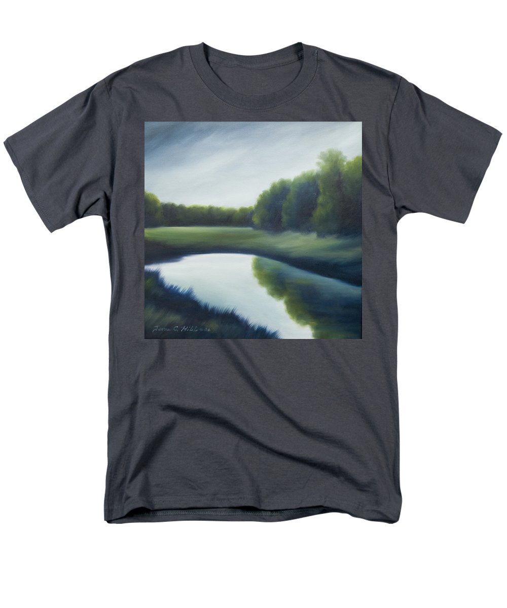 Clouds Men's T-Shirt (Regular Fit) featuring the painting A Day In The Life 2 by James Christopher Hill