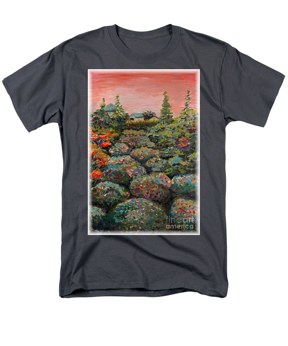 Minnesota Men's T-Shirt (Regular Fit) featuring the painting Minnesota Memories by Nadine Rippelmeyer