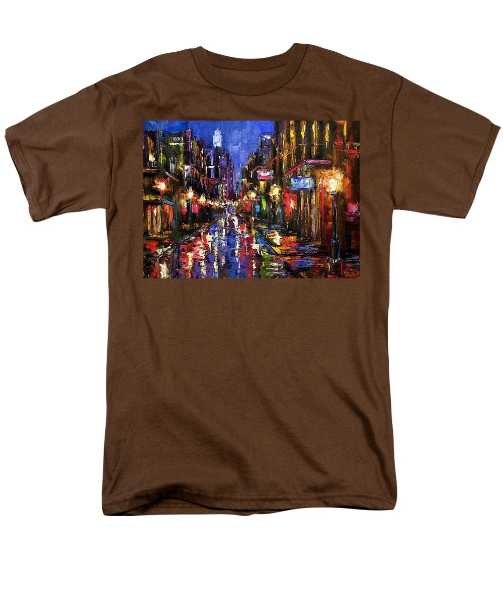 Cityscape Men's T-Shirt (Regular Fit) featuring the painting New Orleans Storm by Debra Hurd