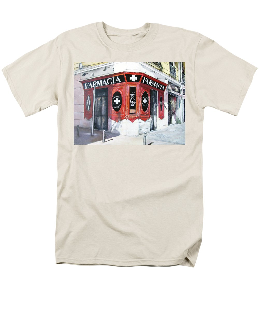 Pharmacy Men's T-Shirt (Regular Fit) featuring the painting Old Pharmacy by Tomas Castano