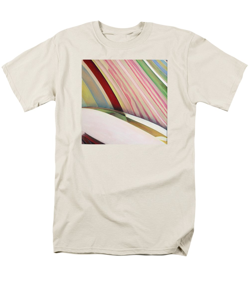 Abstract Men's T-Shirt (Regular Fit) featuring the painting Sens 1 by Muriel Dolemieux