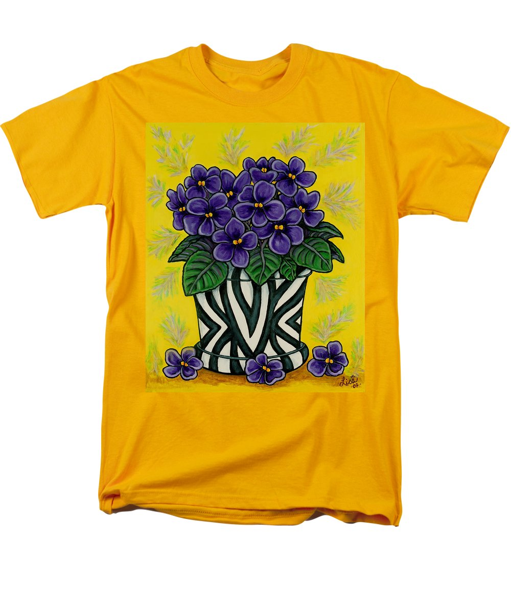 Violets Men's T-Shirt (Regular Fit) featuring the painting African Queen by Lisa Lorenz