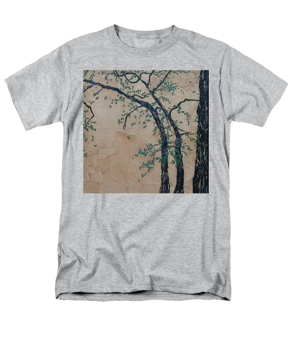 Leafy Tree Men's T-Shirt (Regular Fit) featuring the painting Canandaigua Lake by Leah Tomaino