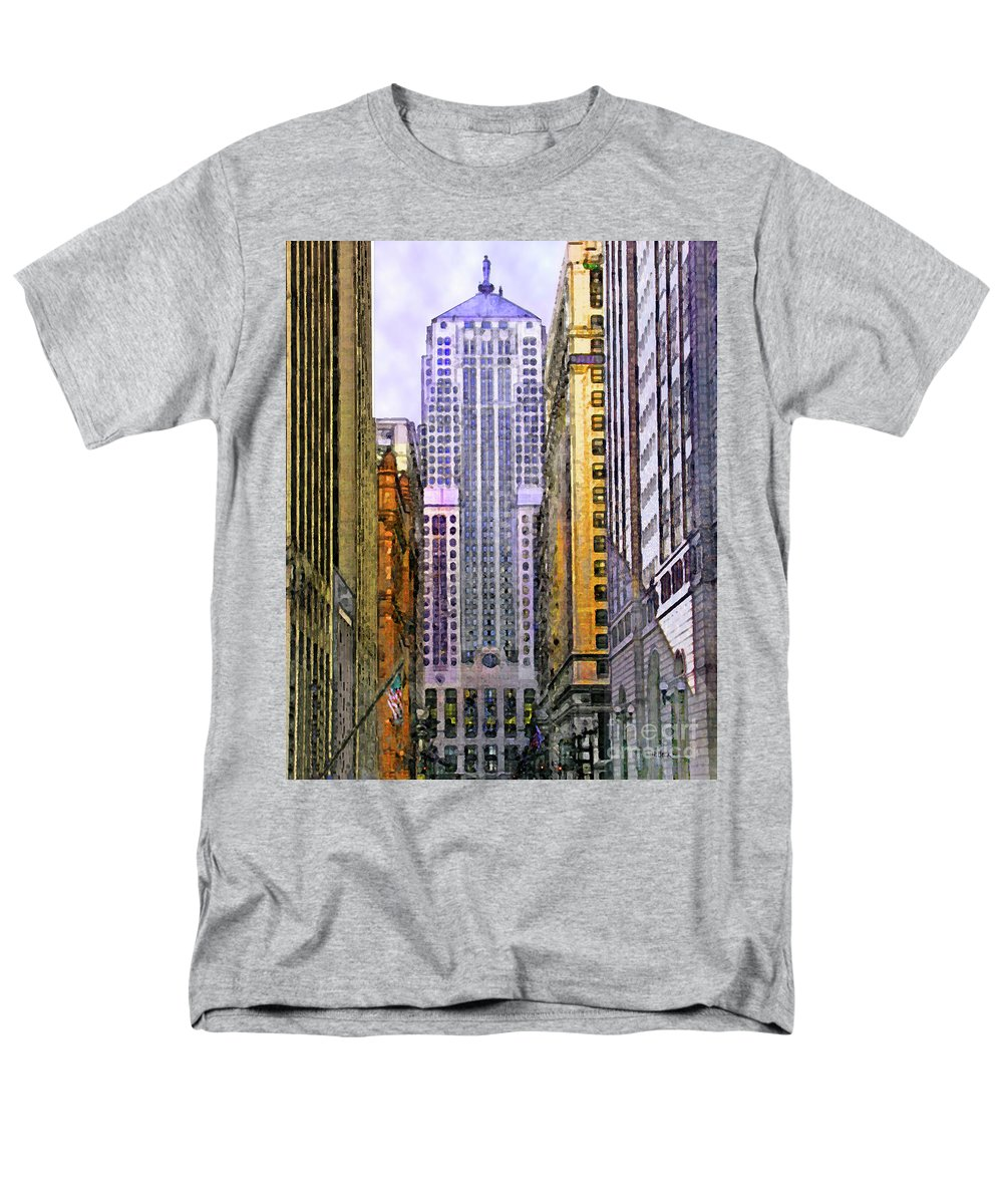 Trading Places Men's T-Shirt (Regular Fit) featuring the digital art Trading Places by John Robert Beck