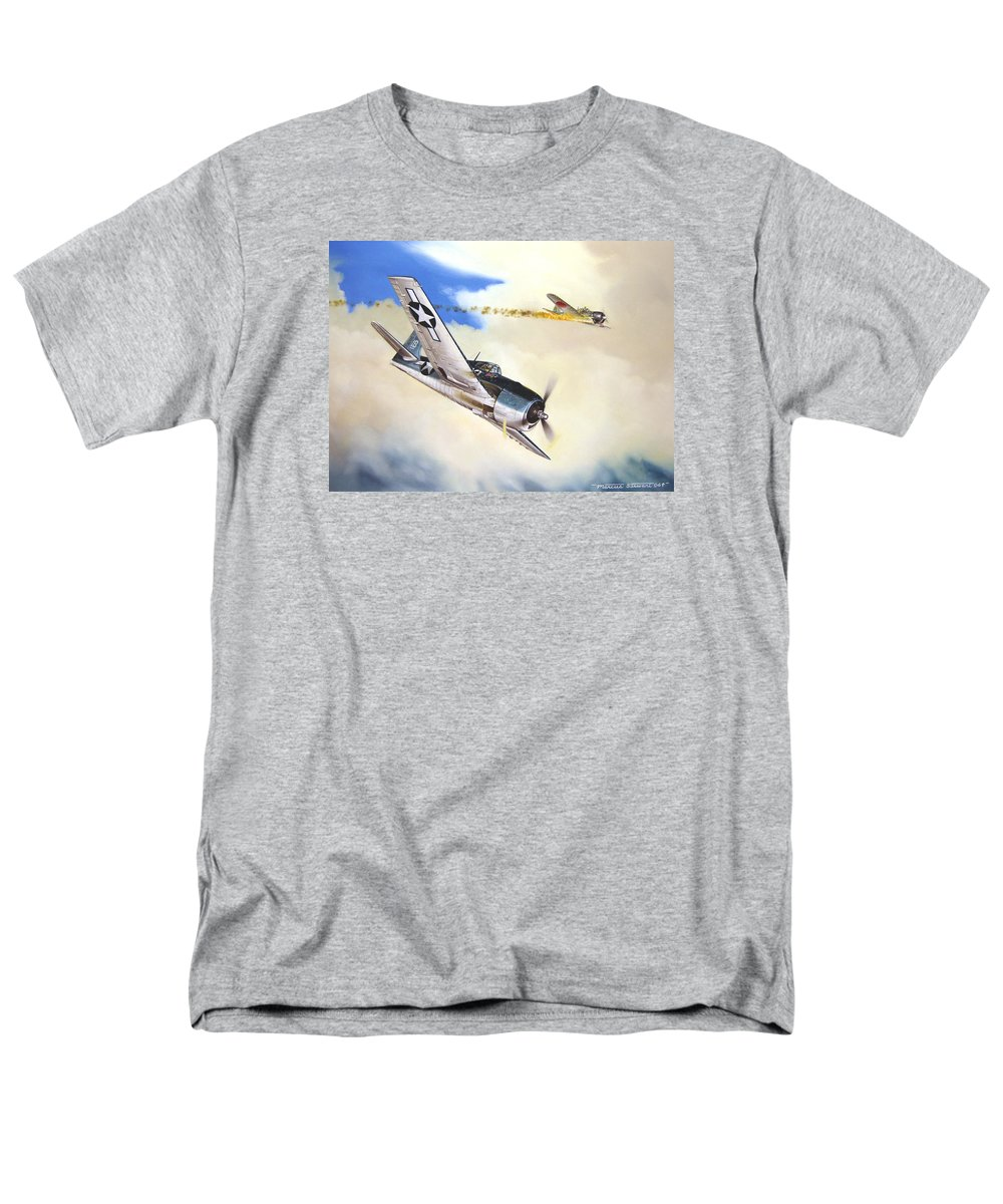 Military Men's T-Shirt (Regular Fit) featuring the painting Victory For Vraciu by Marc Stewart