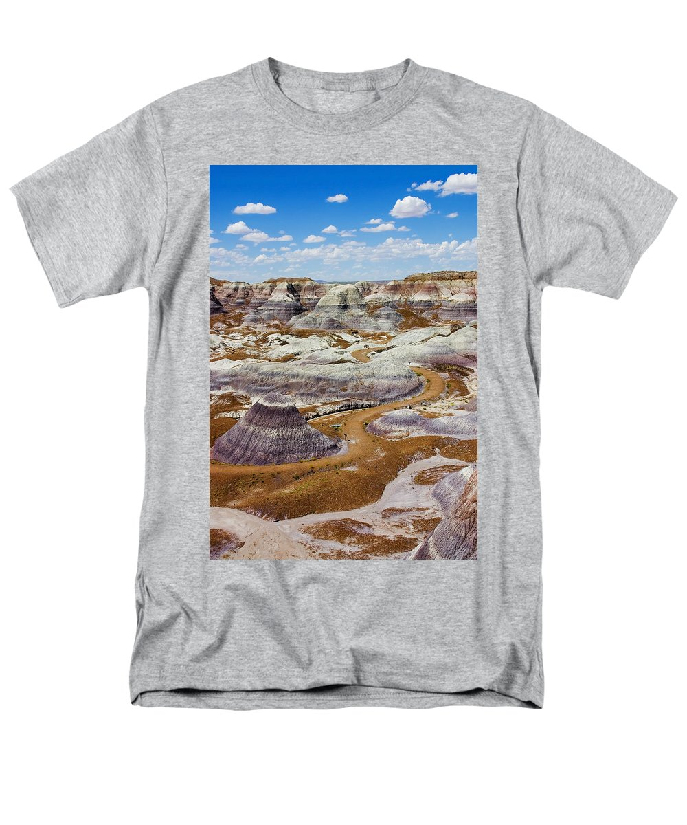 Painted Desert Men's T-Shirt (Regular Fit) featuring the photograph Yea Though I Walk by Skip Hunt
