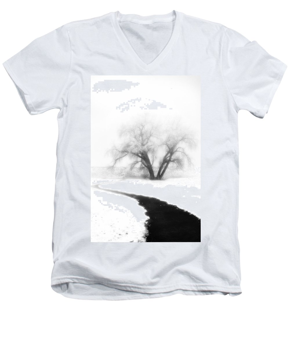 Tree Men's V-Neck T-Shirt featuring the photograph Getting There by Marilyn Hunt