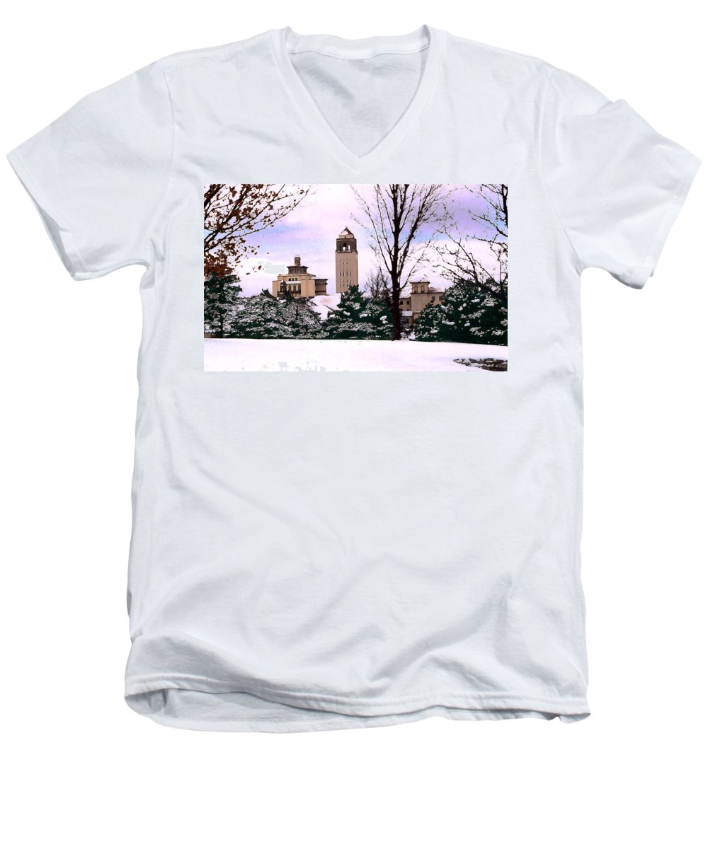 Landscape Men's V-Neck T-Shirt featuring the photograph Unity Village by Steve Karol