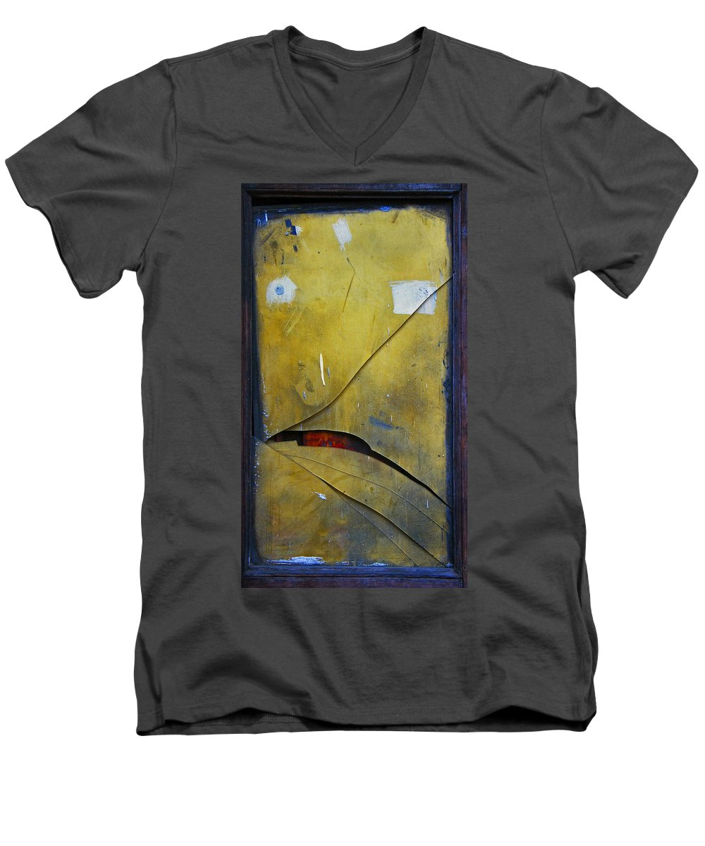 Abstract Men's V-Neck T-Shirt featuring the photograph Xalapa Miro by Skip Hunt