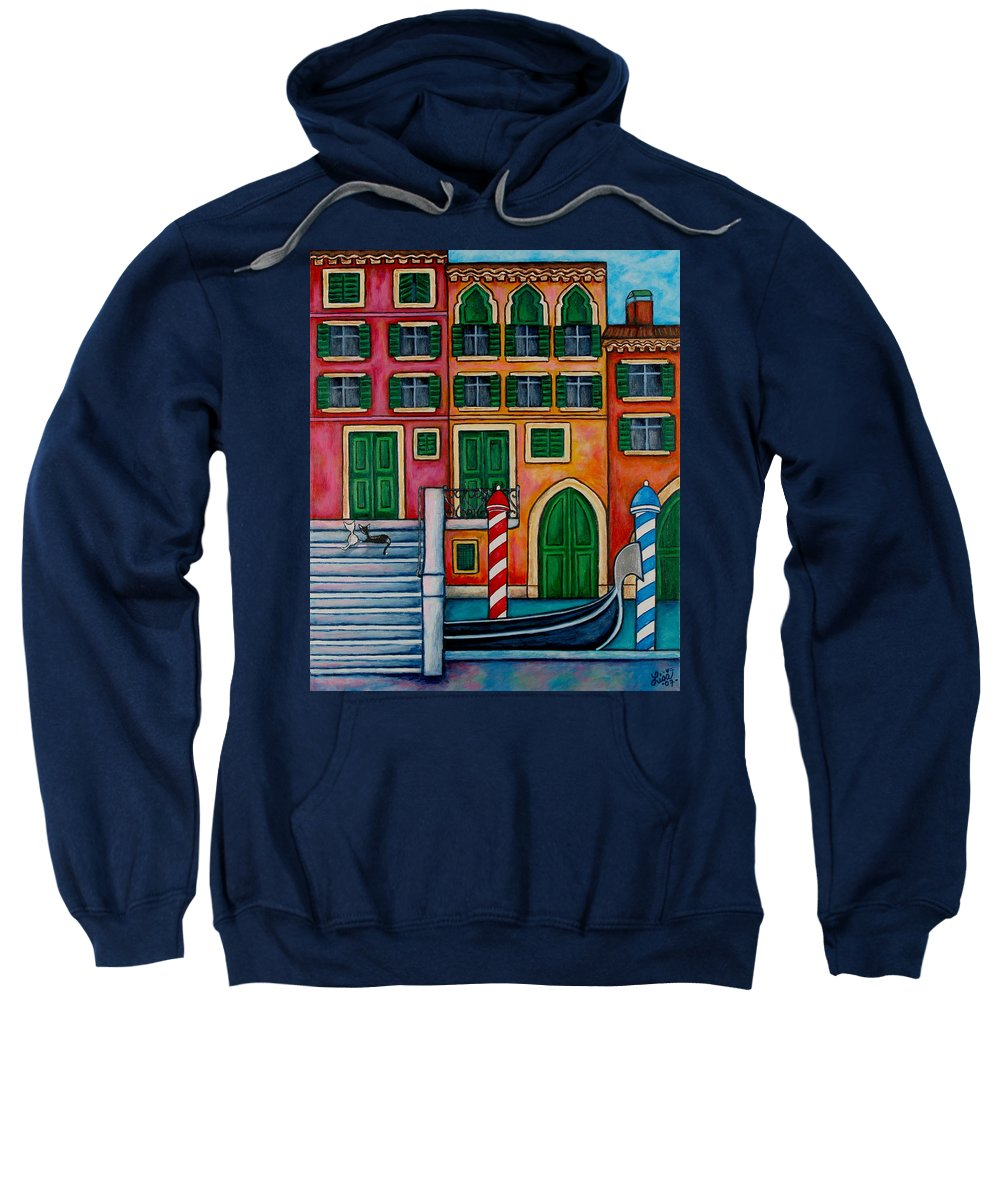 Venice Sweatshirt featuring the painting Colours Of Venice by Lisa Lorenz