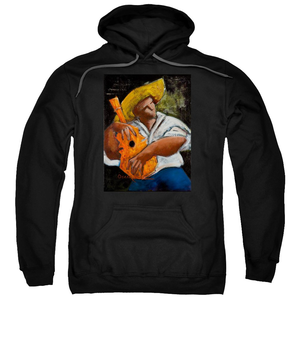 Puerto Rico Sweatshirt featuring the painting Bravado Alla Prima by Oscar Ortiz