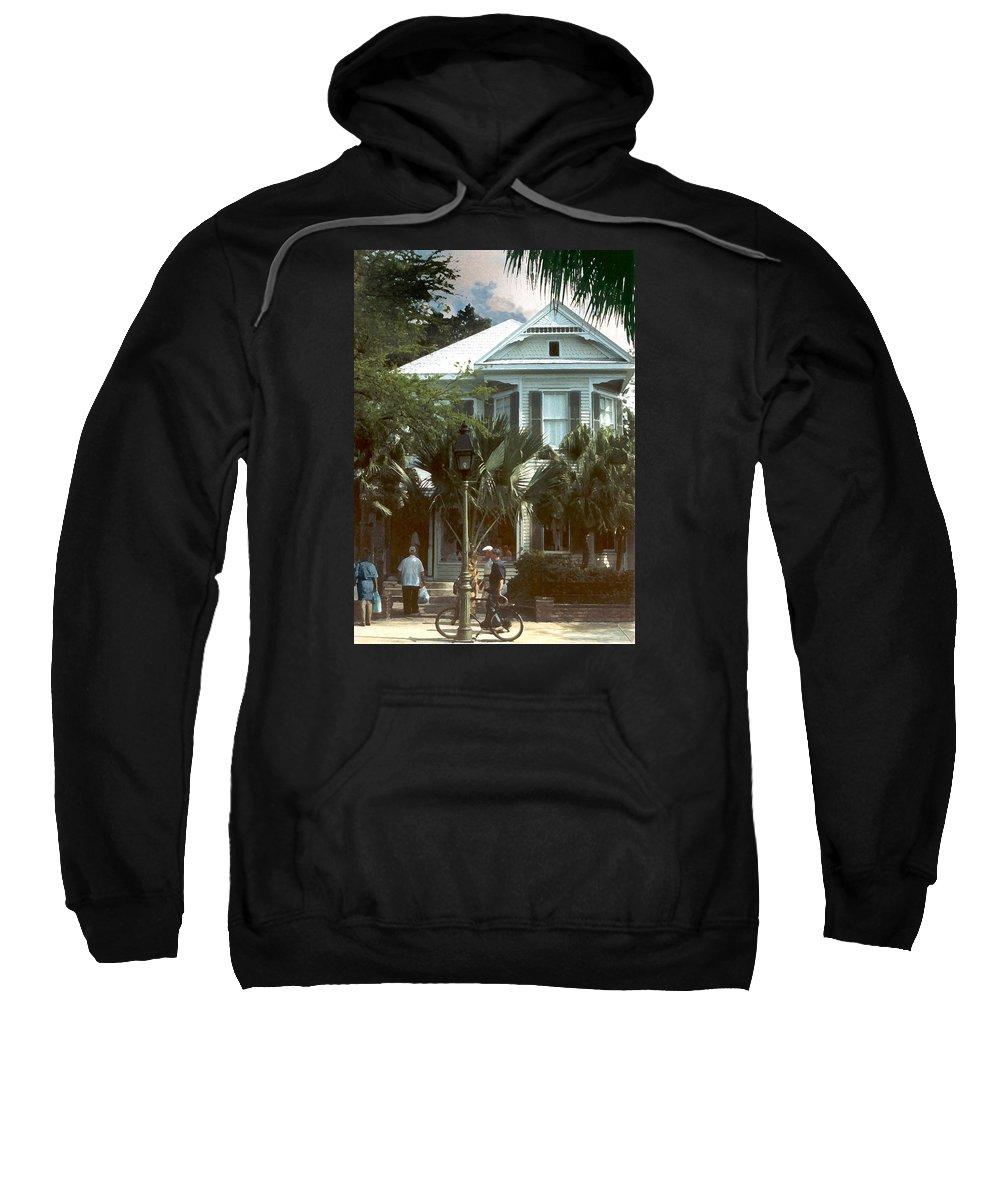 Historic Sweatshirt featuring the photograph Keywest by Steve Karol