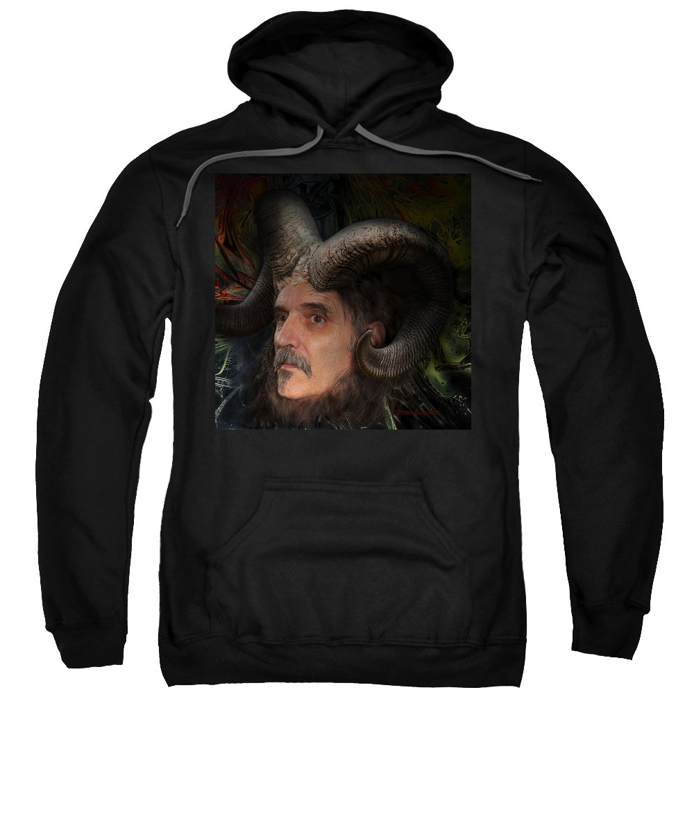 Surrealism Sweatshirt featuring the digital art Silenus by Otto Rapp