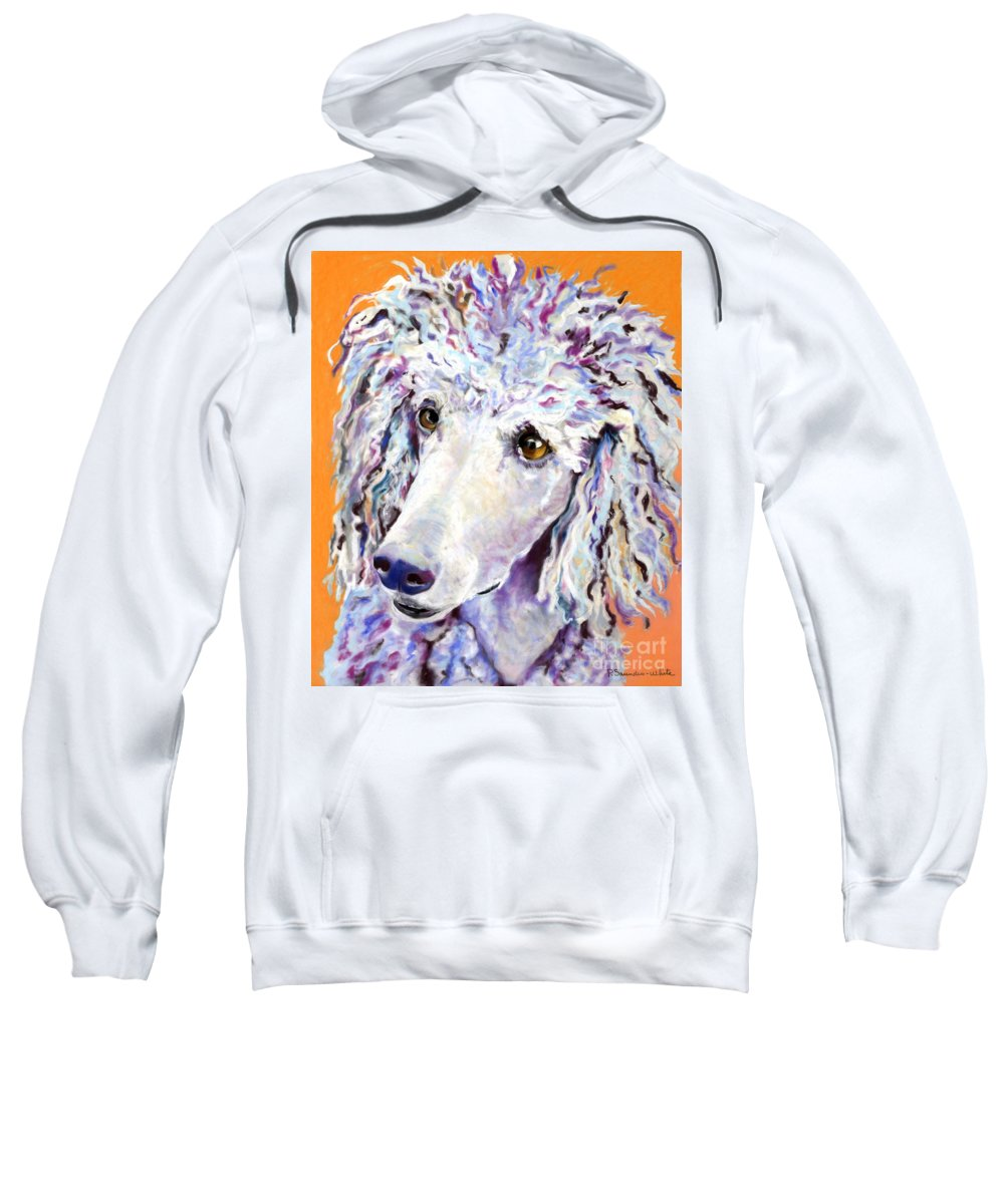 Standard Poodle Sweatshirt featuring the pastel Above The Standard  by Pat Saunders-White