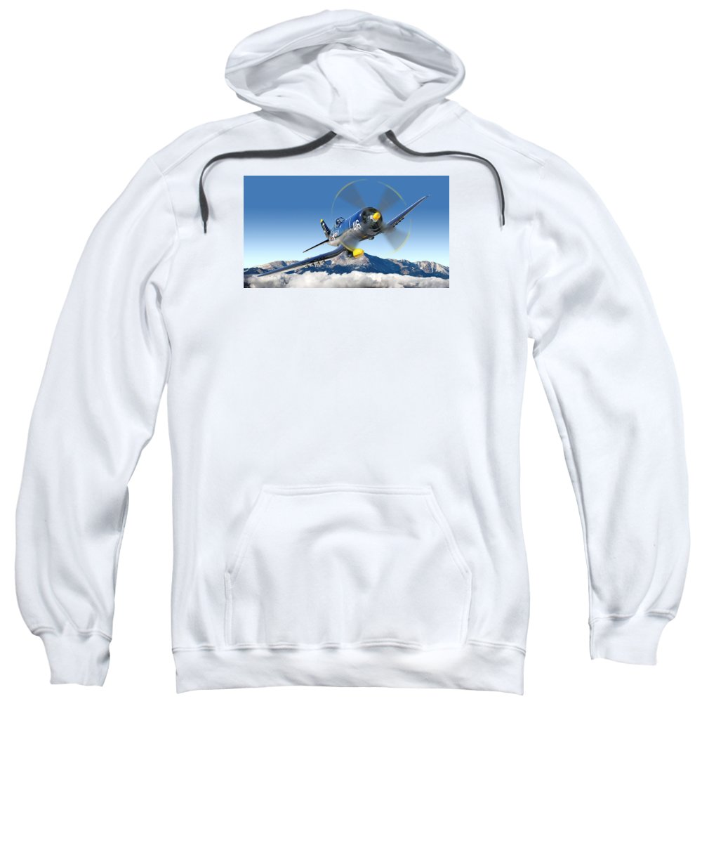 F4-u Corsair Sweatshirt featuring the photograph F4-u Corsair by Larry McManus