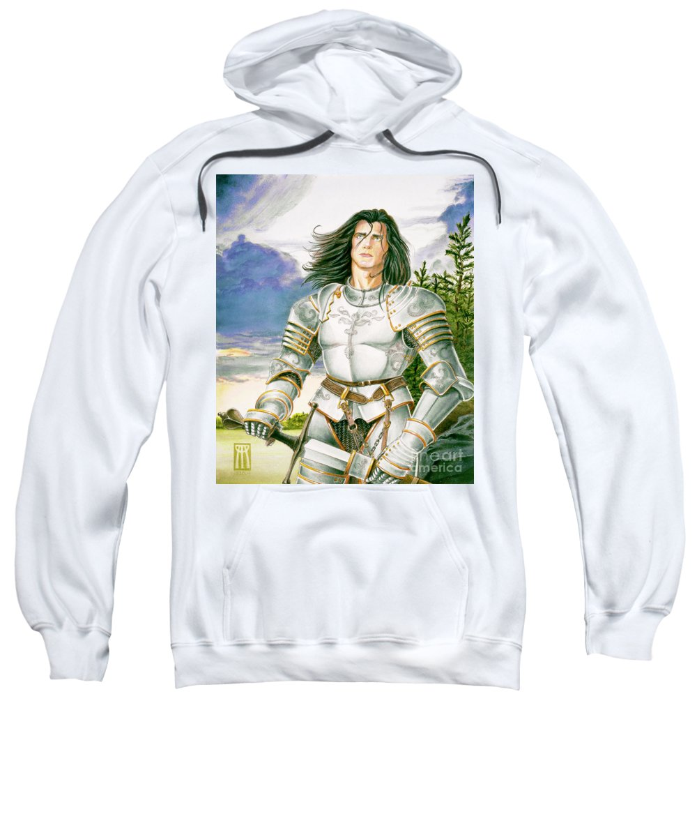 Swords Sweatshirt featuring the painting Sir Lancelot by Melissa A Benson