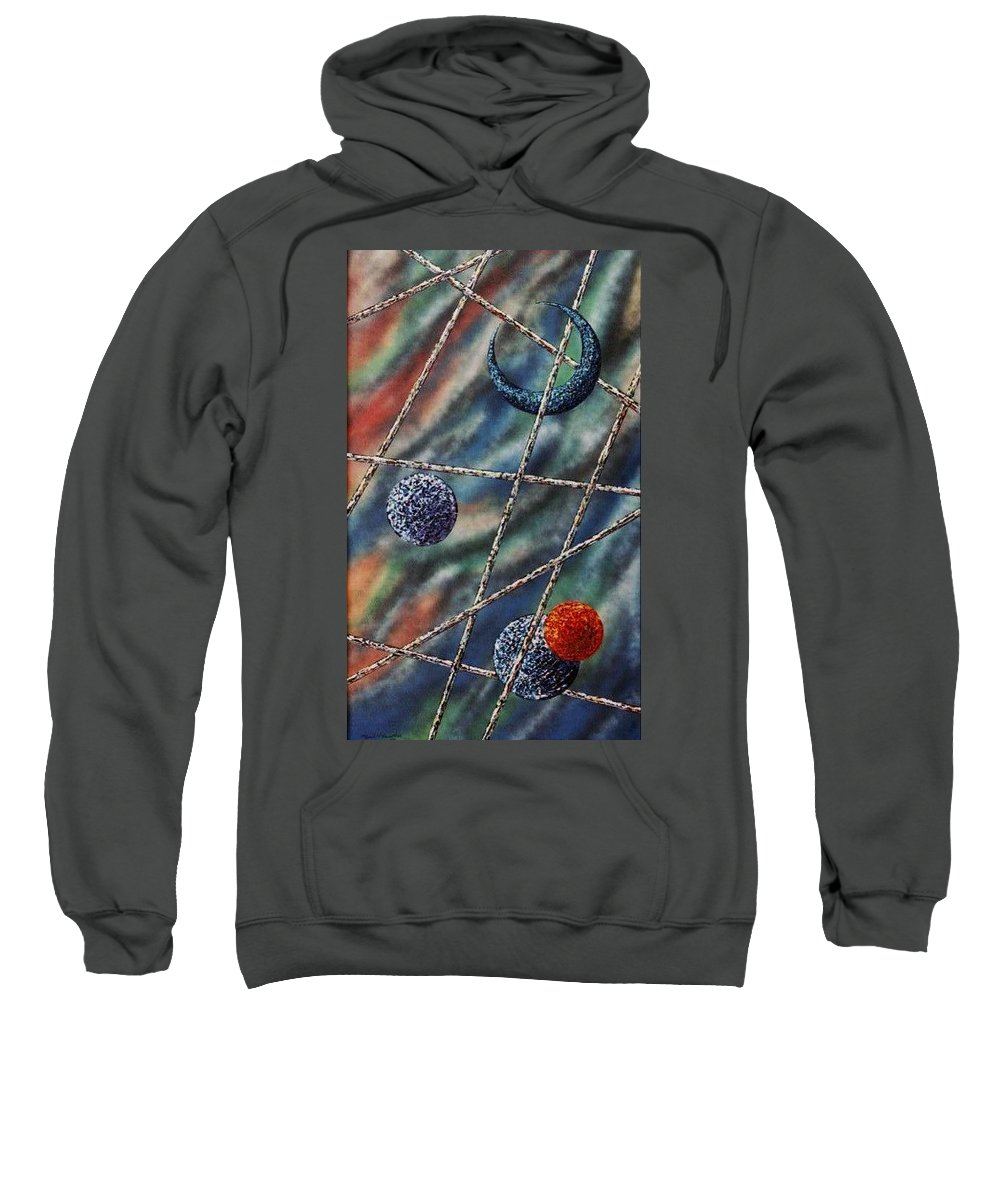 Abstract Sweatshirt featuring the painting Crescent by Micah Guenther