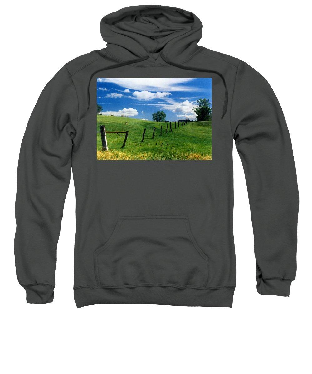 Summer Landscape Sweatshirt featuring the photograph Summer Landscape by Steve Karol