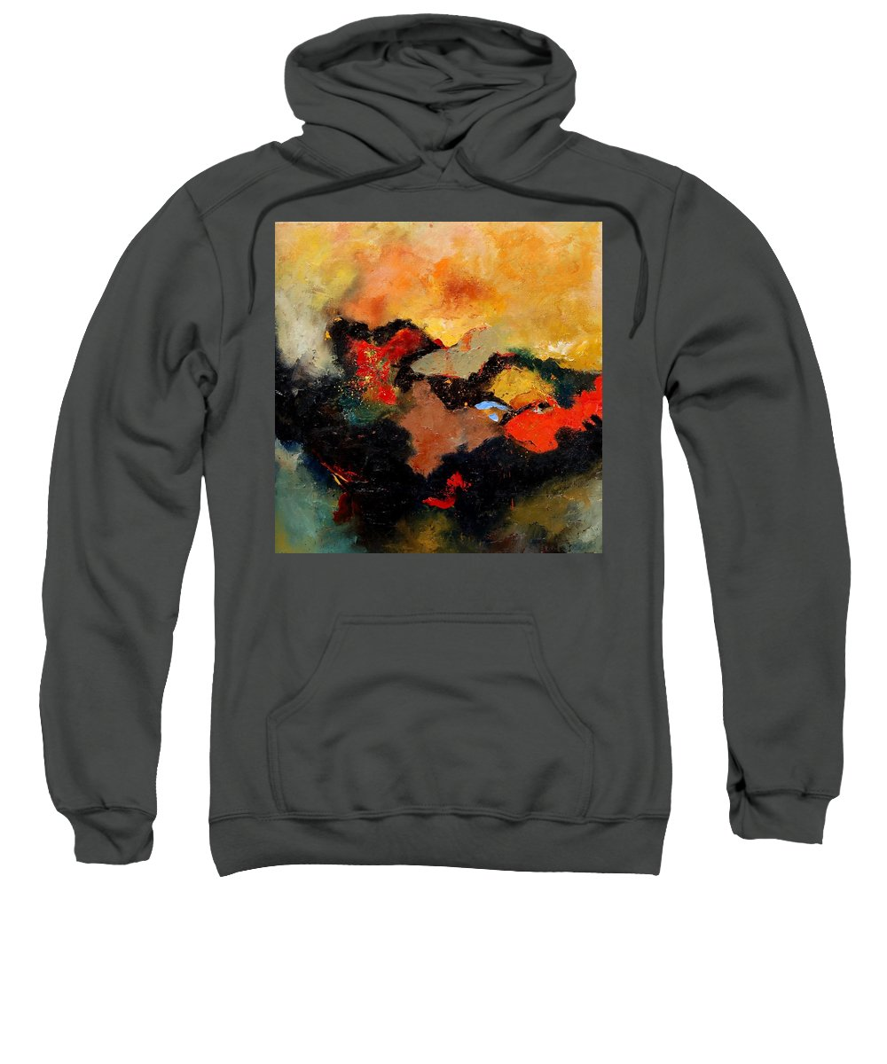 Abstract Sweatshirt featuring the painting Abstract 8080 by Pol Ledent
