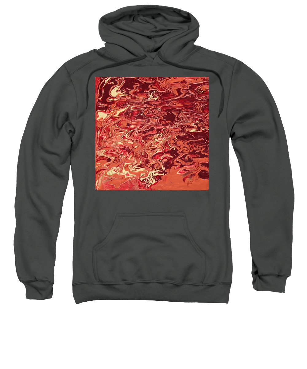 Fusionart Sweatshirt featuring the painting Indulgence by Ralph White