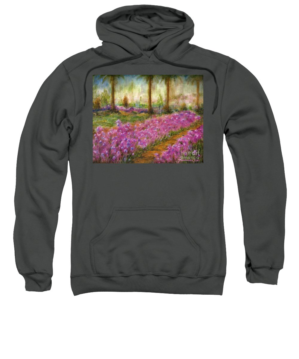 Monet Sweatshirt featuring the painting Monet's Garden In Cannes by Jerome Stumphauzer
