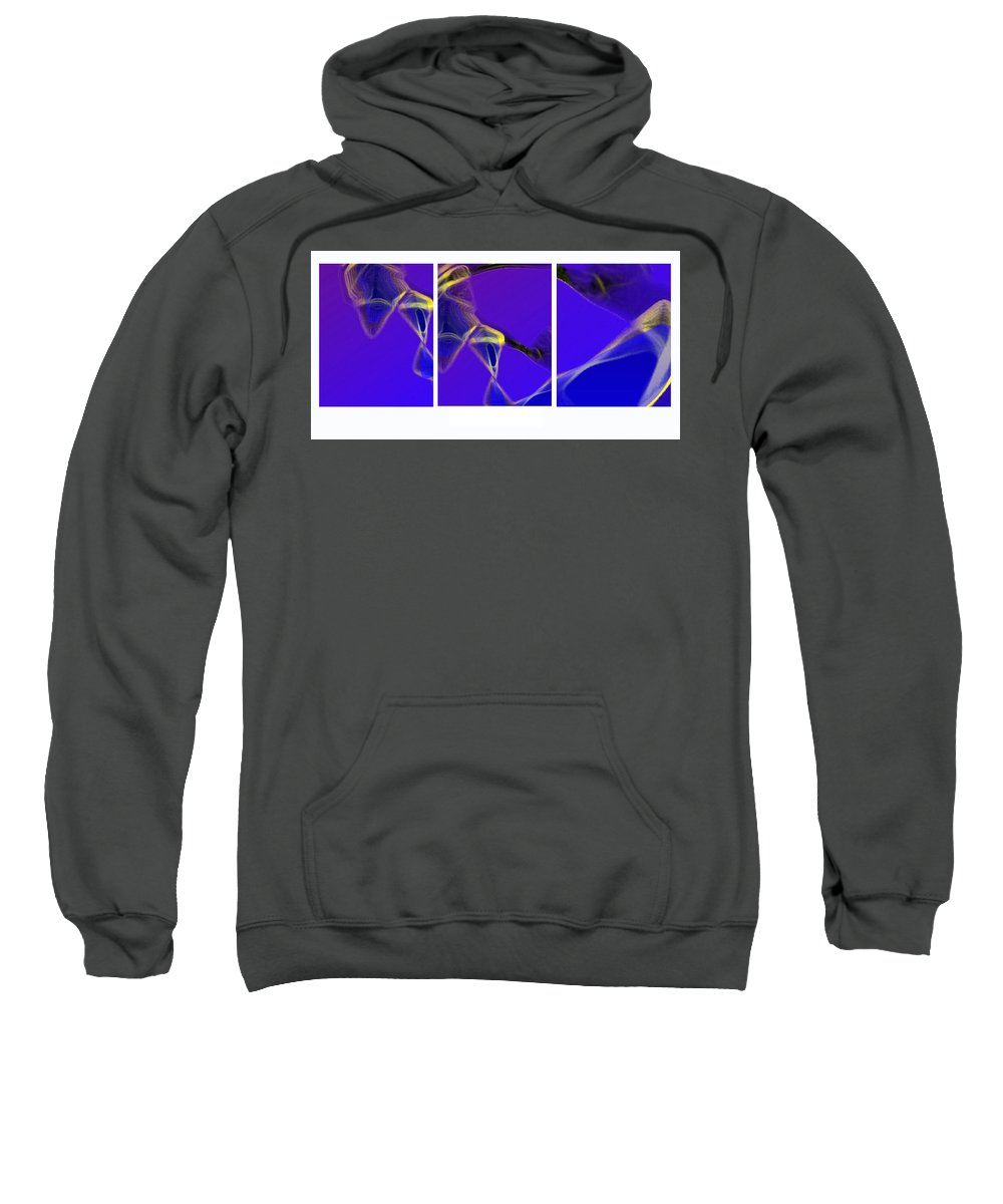 Abstract Sweatshirt featuring the digital art Movement In Blue by Steve Karol