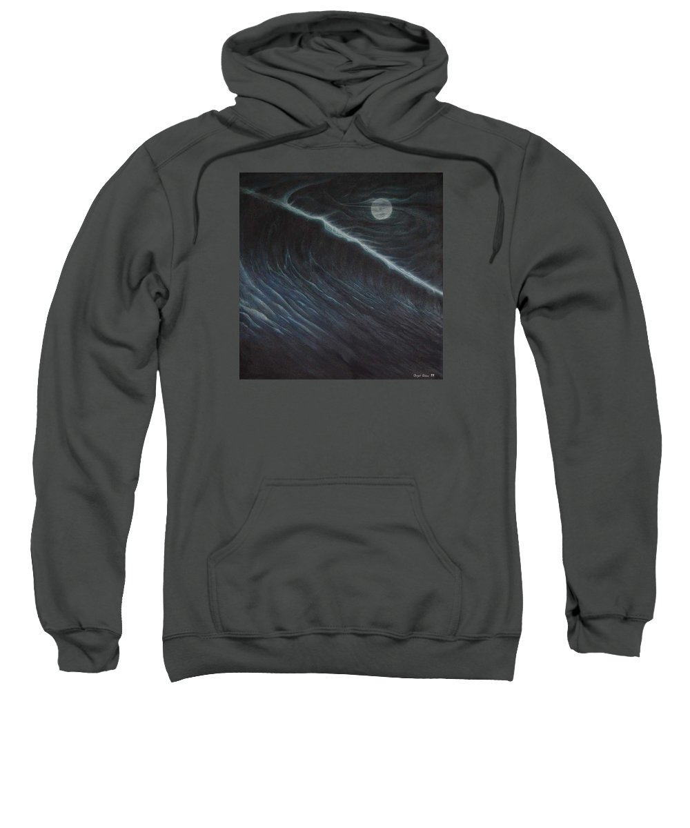 Seascapes Sweatshirt featuring the painting Tsunami by Angel Ortiz