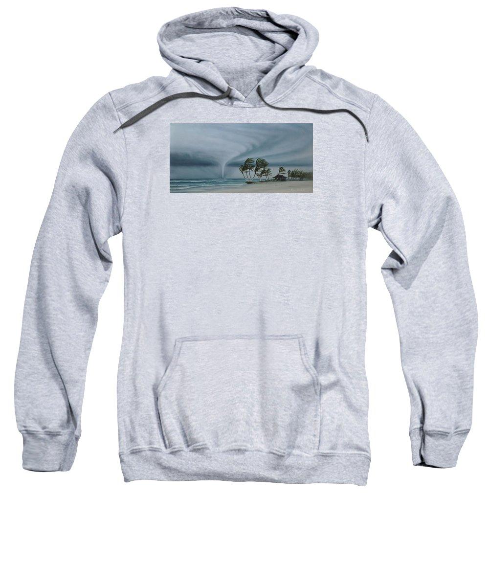 Sweatshirt featuring the painting Mahahual by Angel Ortiz
