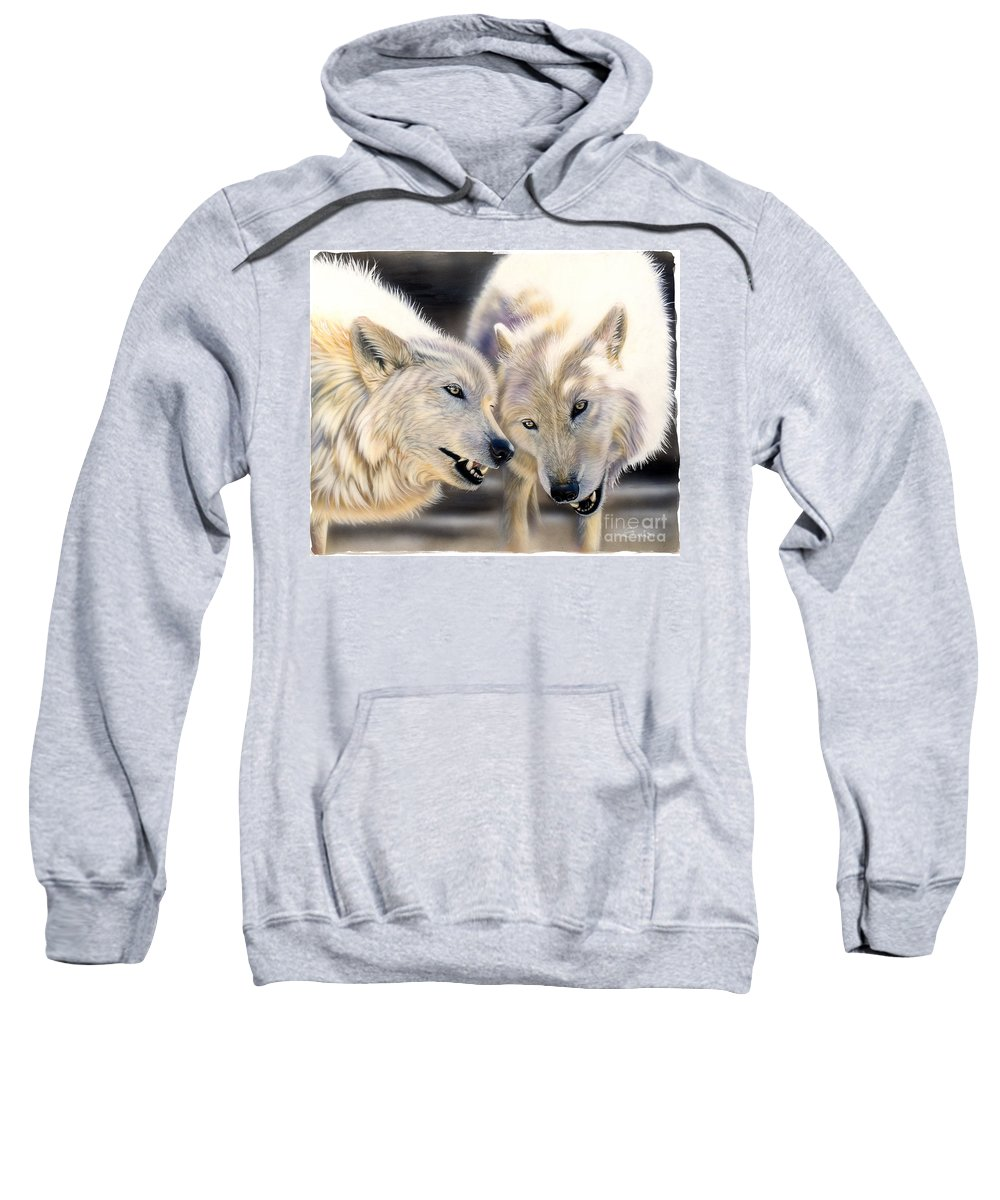 Acrylics Sweatshirt featuring the painting Arctic Pair by Sandi Baker