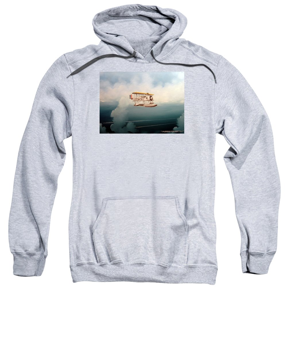 Military Sweatshirt featuring the painting Eyes Of The Fleet by Marc Stewart