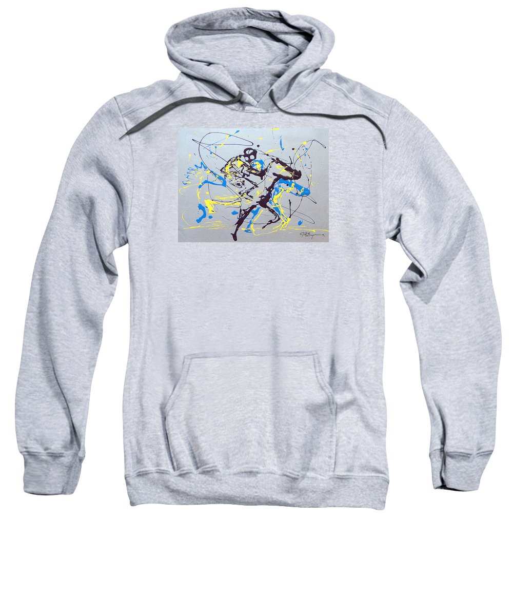 Kentucky Derby Sweatshirt featuring the painting Great Day In Kentucky by J R Seymour