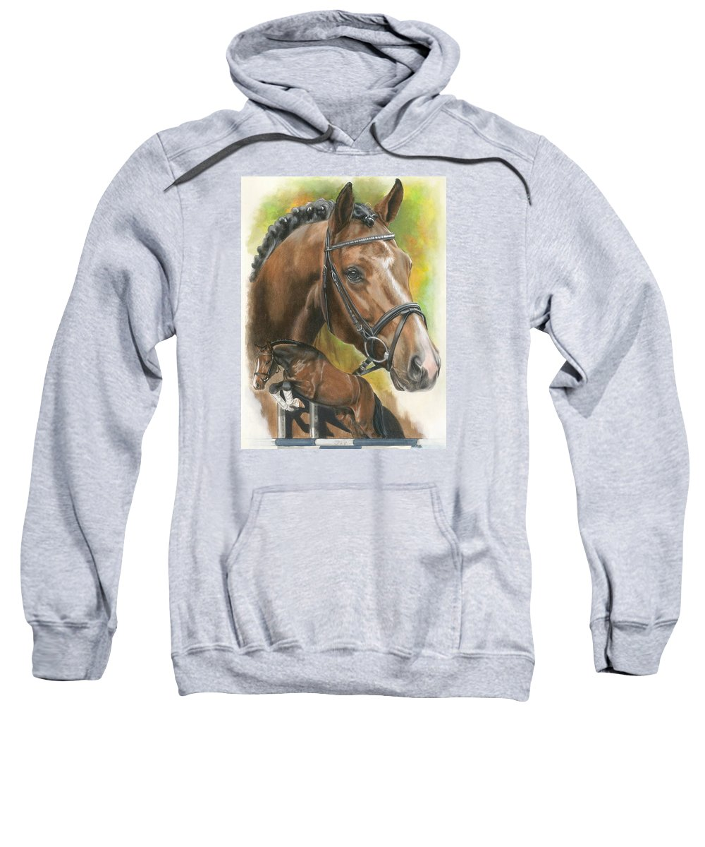 Horse Sweatshirt featuring the painting Oldenberg by Barbara Keith