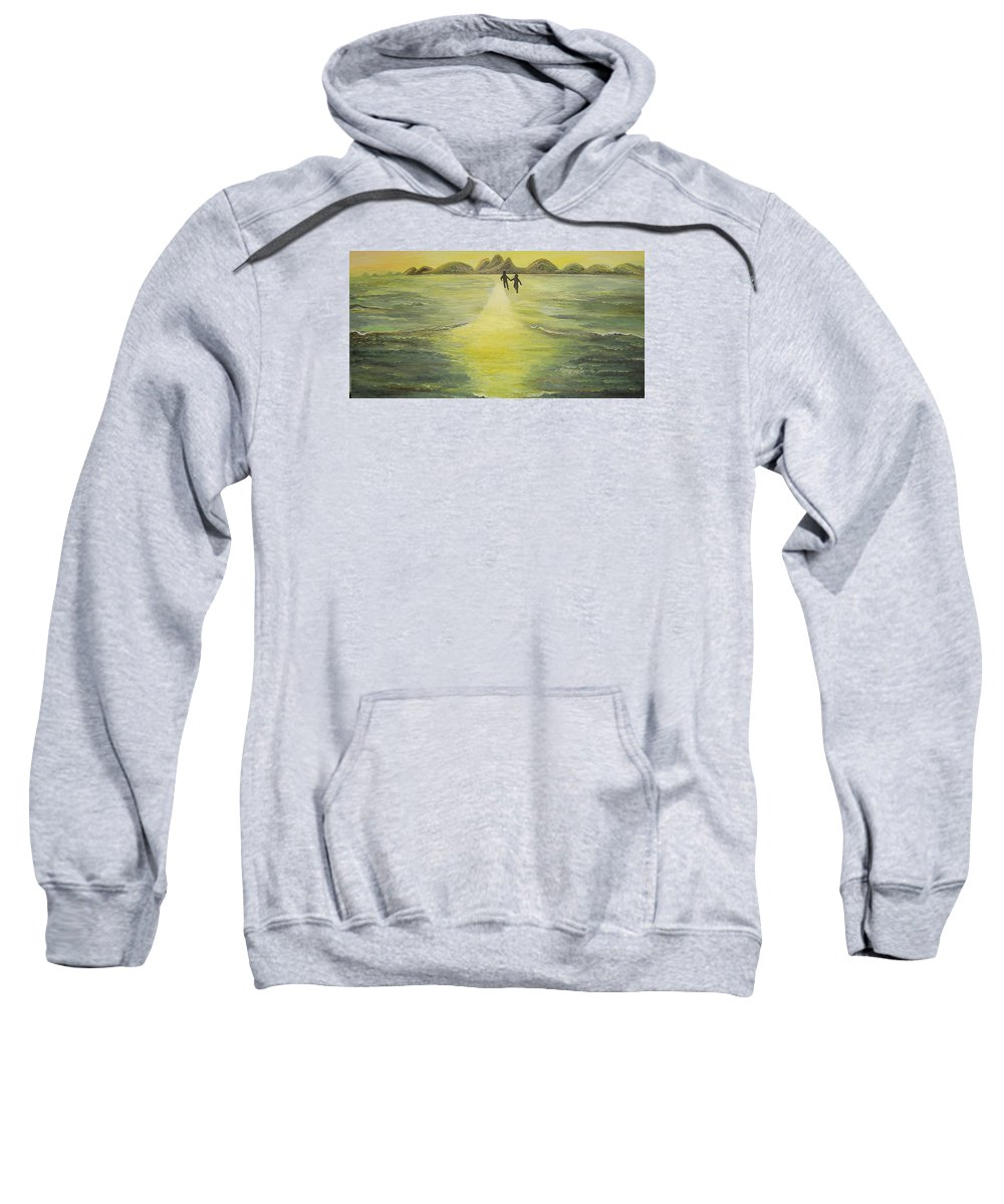 Soul Sweatshirt featuring the painting The Road In The Ocean Of Light by Karina Ishkhanova