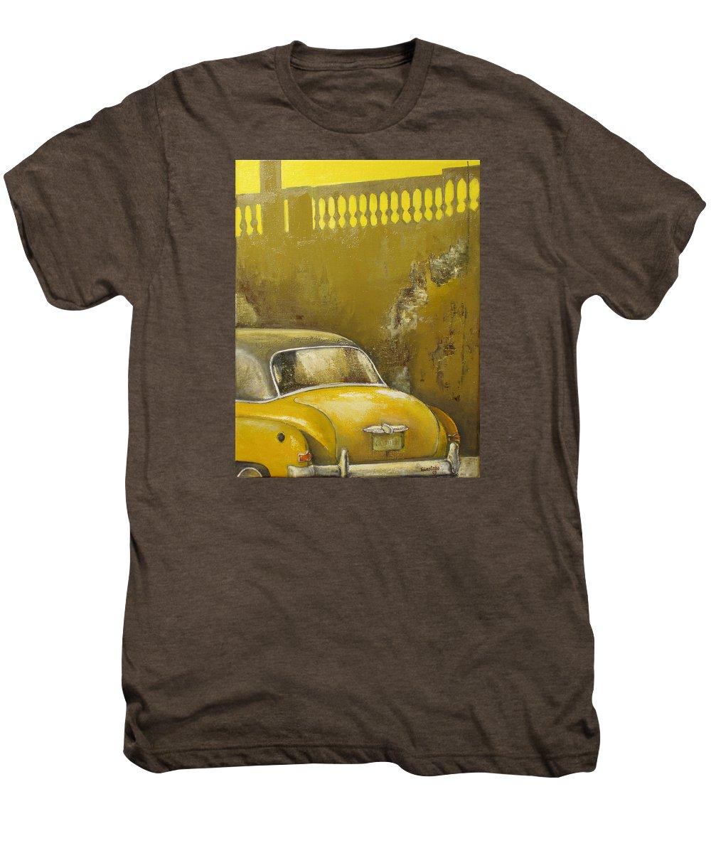Havana Men's Premium T-Shirt featuring the painting Buscando La Sombra by Tomas Castano