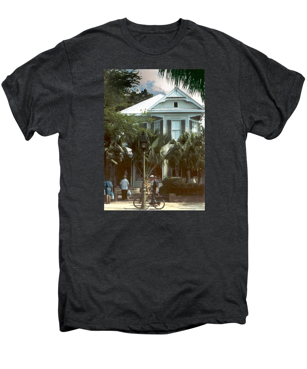 Historic Men's Premium T-Shirt featuring the photograph Keywest by Steve Karol