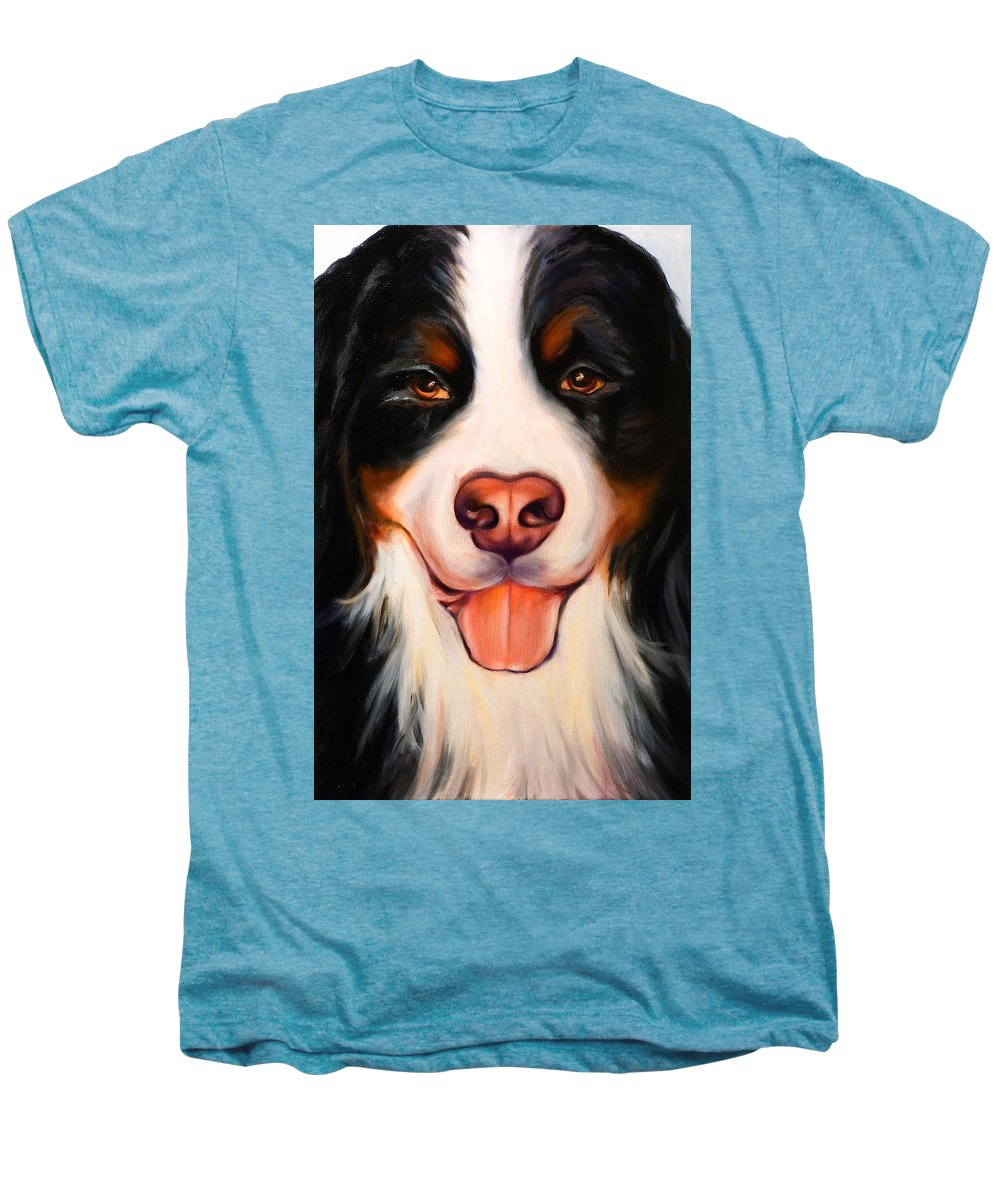 Dog Men's Premium T-Shirt featuring the painting Big Willie by Shannon Grissom