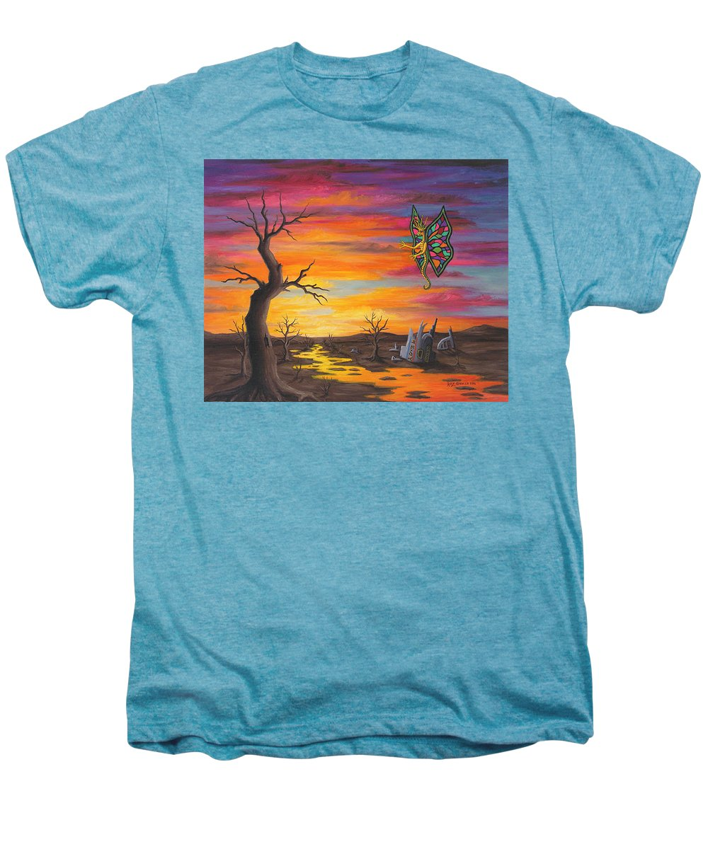 Fantasy Men's Premium T-Shirt featuring the painting Planet Px7 by Roz Eve