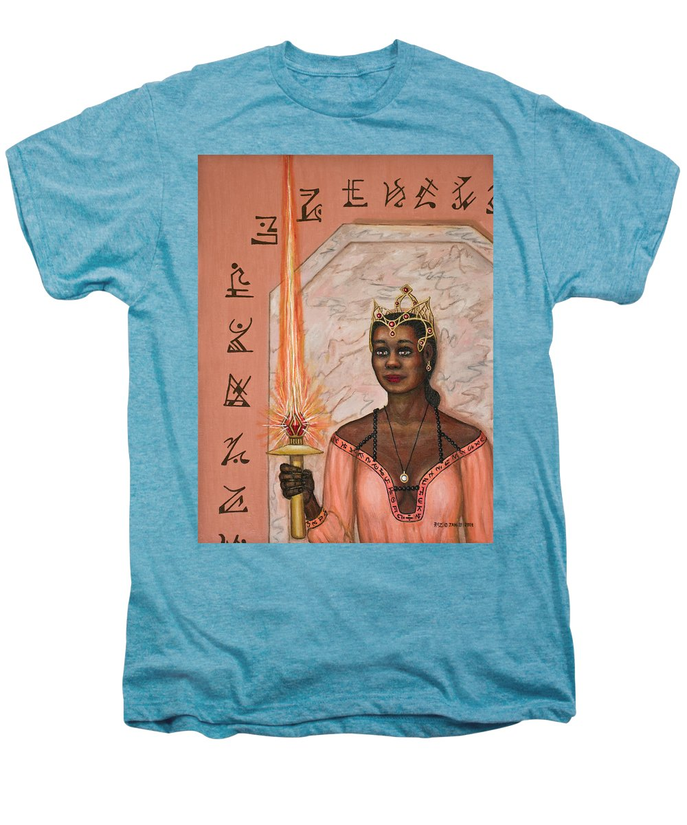Fantasy Men's Premium T-Shirt featuring the painting Queens New Toy by Roz Eve