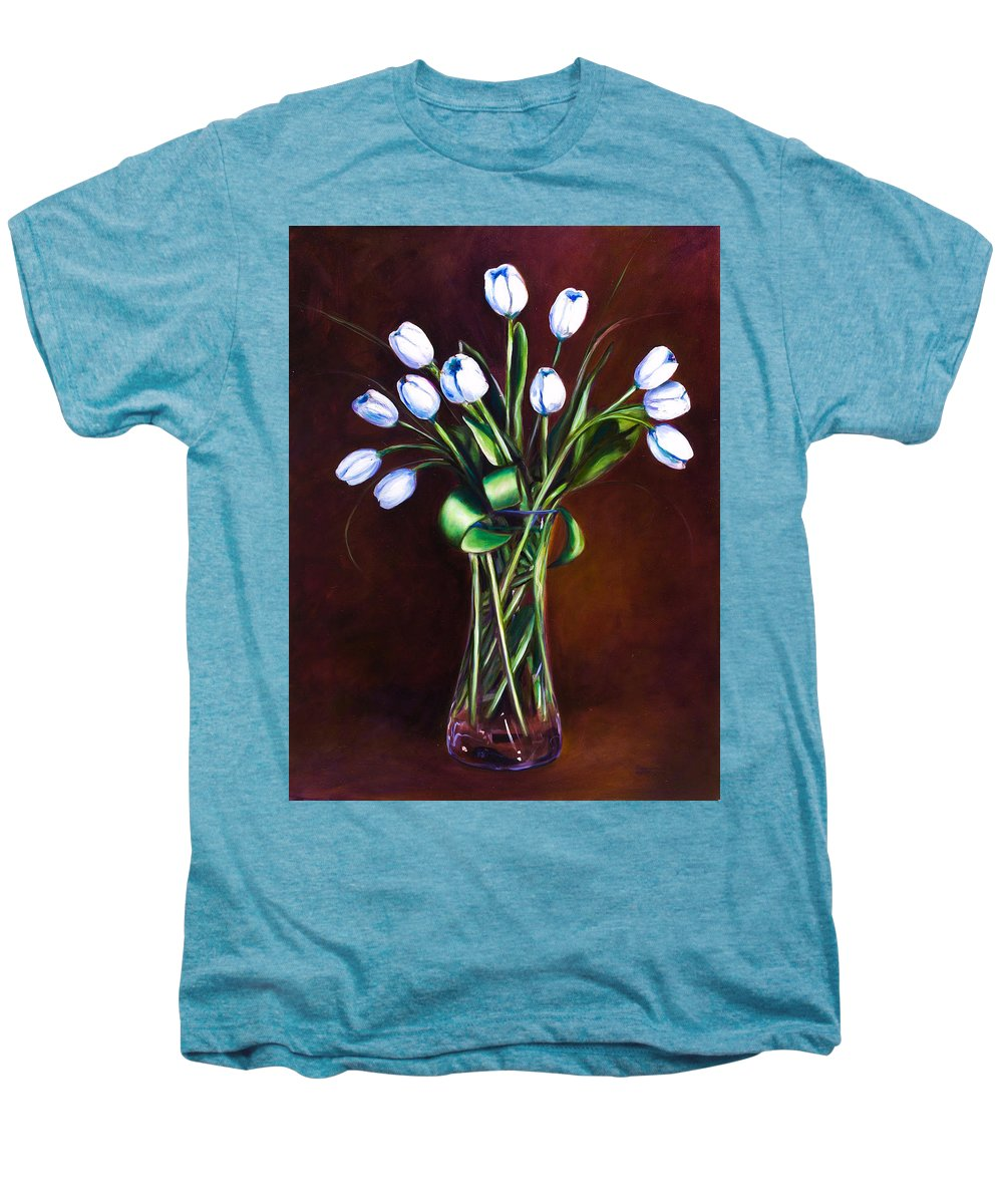 Shannon Grissom Men's Premium T-Shirt featuring the painting Simply Tulips by Shannon Grissom