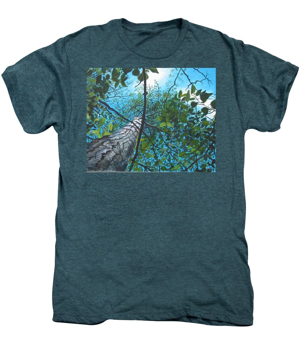Landscape Men's Premium T-Shirt featuring the painting Skyward by William Brody