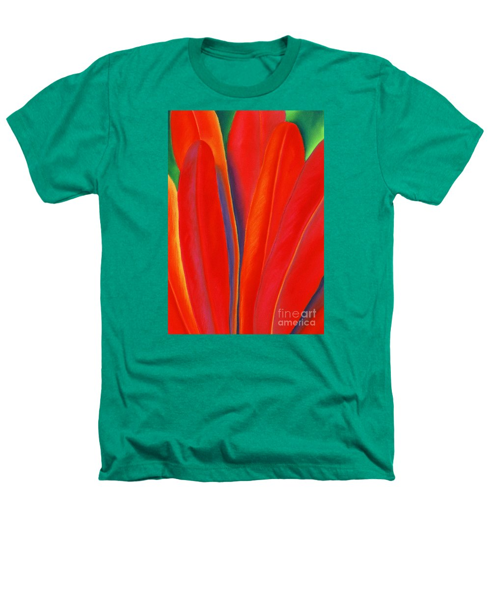 Red Heathers T-Shirt featuring the painting Red Petals by Lucy Arnold
