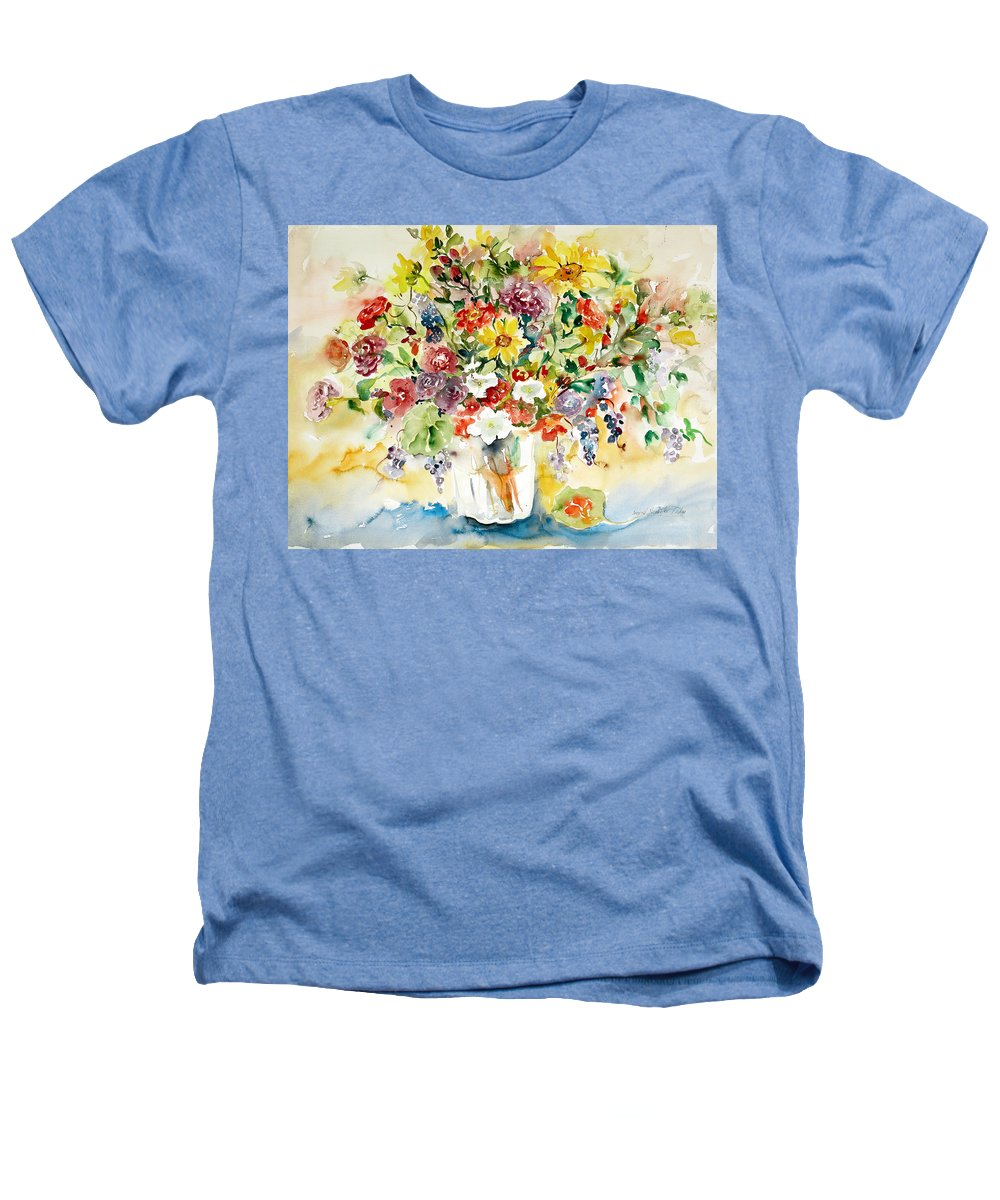 Watercolor Heathers T-Shirt featuring the painting Arrangement IIi by Ingrid Dohm