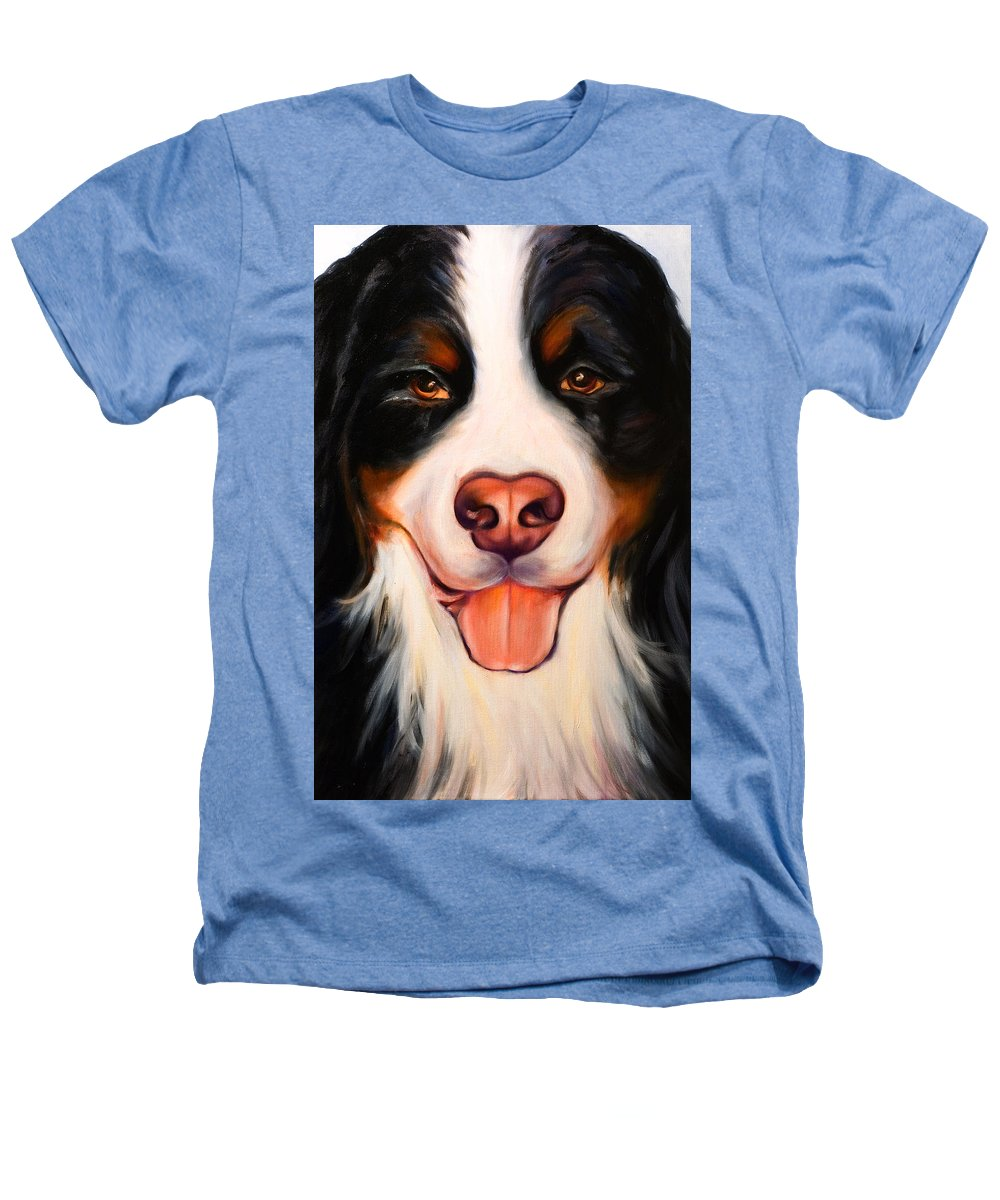 Dog Heathers T-Shirt featuring the painting Big Willie by Shannon Grissom