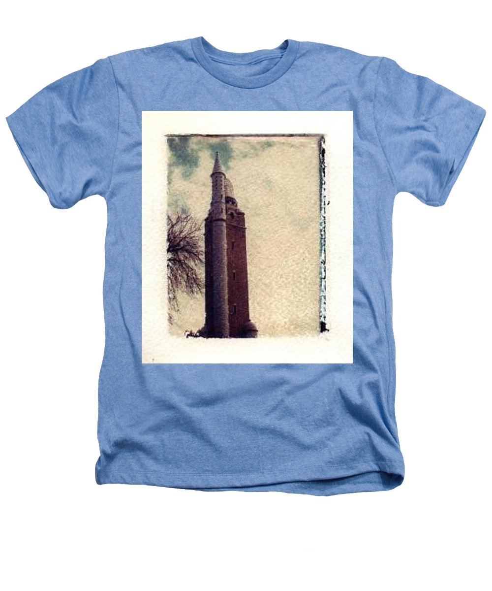 Polaroid Transfer Heathers T-Shirt featuring the photograph Compton Water Tower by Jane Linders