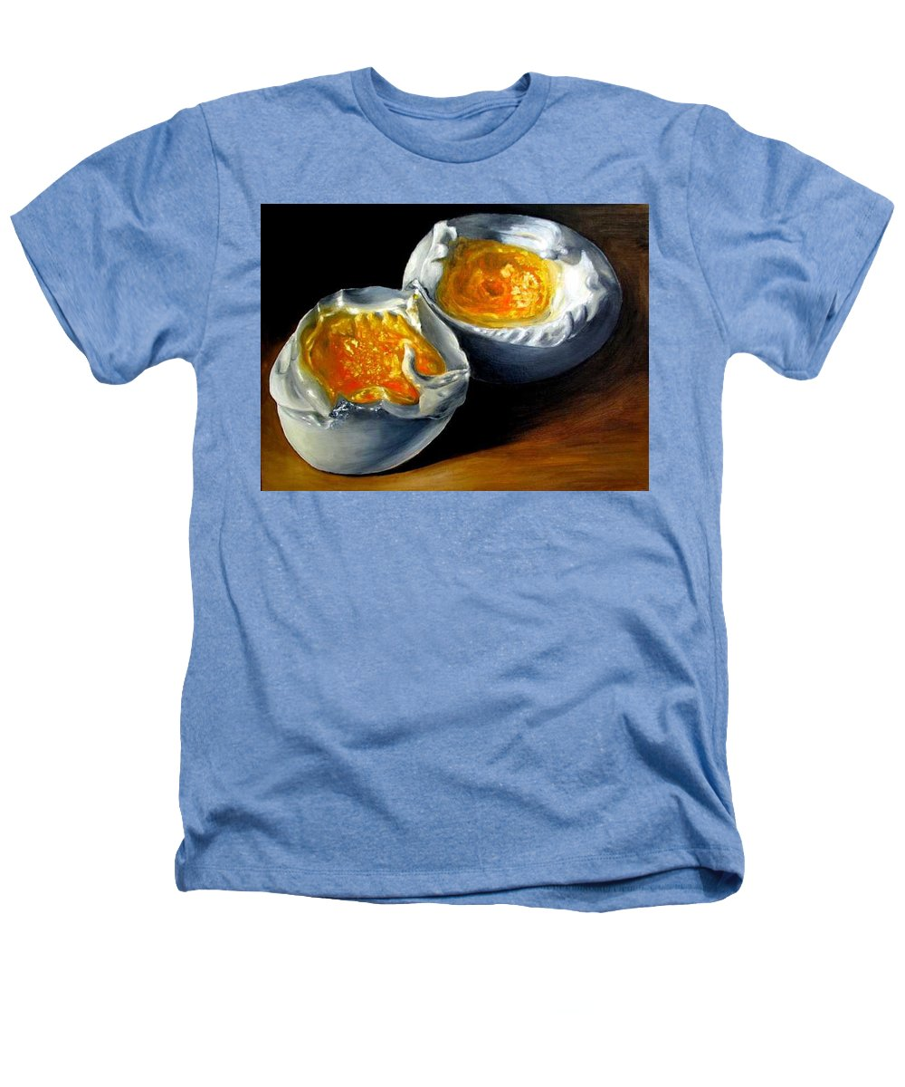 Eggs Heathers T-Shirt featuring the painting Eggs Contemporary Oil Painting On Canvas by Natalja Picugina